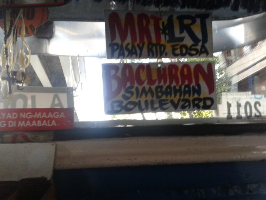 Baclaran - MRT - Edsa - Nicols