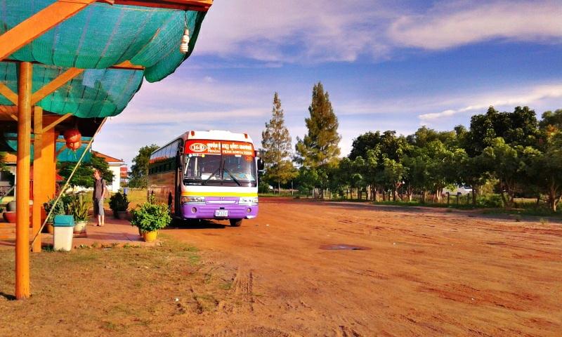 Sorya Bus di tempat istirahat