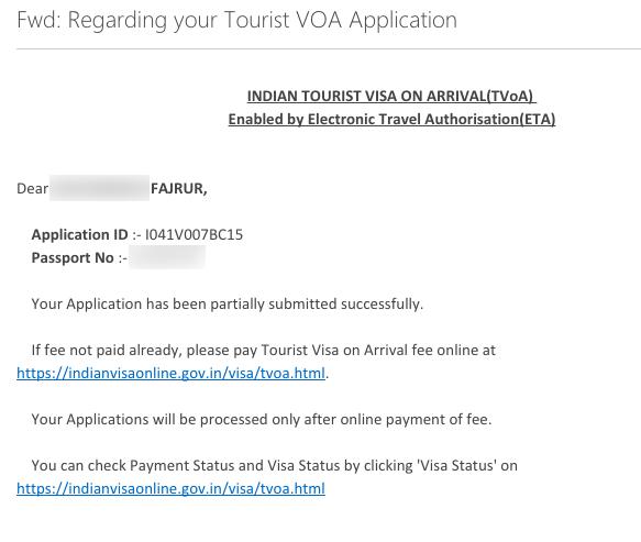 Setelah mengisi formulir dan mengonfirmasi, kita akan dikirimkan email seperti ini.